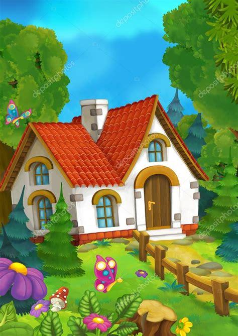Animado: casa para dibujo | Fondo de dibujos animados de ...