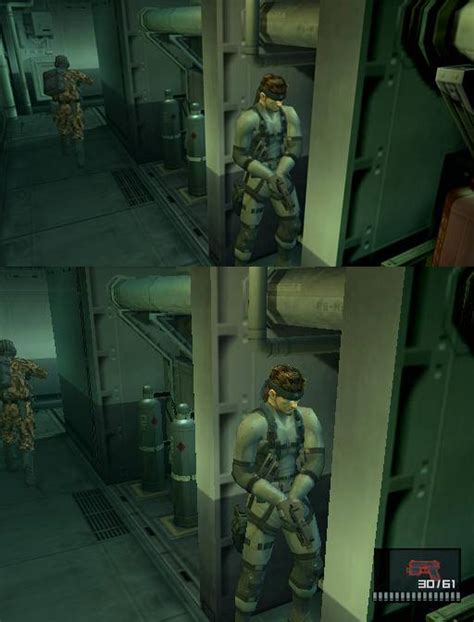 metal gear solid hd collection  psps comparison