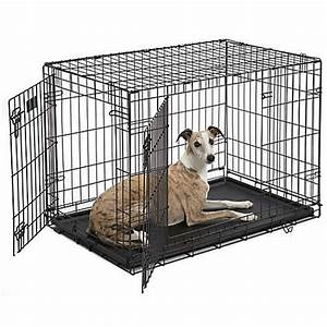 midwest icrate double door folding dog crates petco With dog crate cost