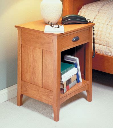 cherry bedside table woodsmith plans