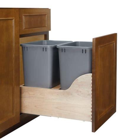 double trash can cabinet rev a shelf soft close double trash pullout 35 quart 4wcsc