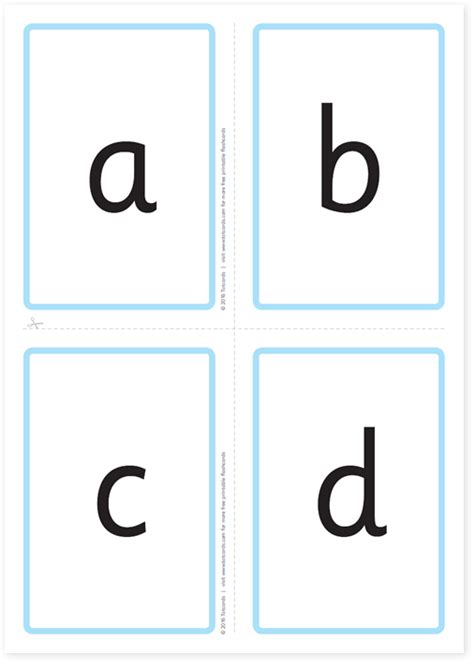Printable Alphabet Flash Cards Lowercase  Printable 360 Degree