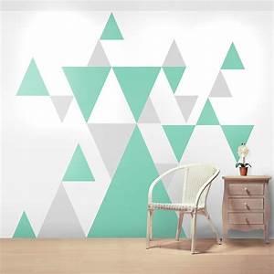 Geometric pattern giant wall sticker set by oakdene