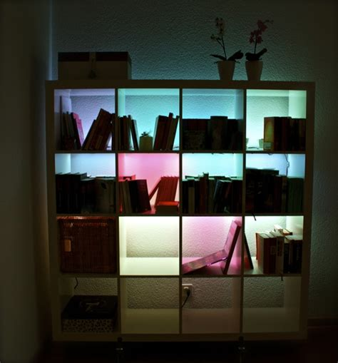 ikea bookshelf light expeditinvaders the spiced up ikea shelf
