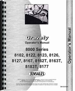 Gravely 8122 Lawn  U0026 Garden Tractor Operators Manual