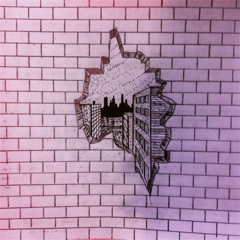 brick wall drawing how to draw a in a brick wall 3d
