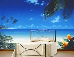 248 best wall murals painted furniture images on With best brand of paint for kitchen cabinets with ocean scene wall art