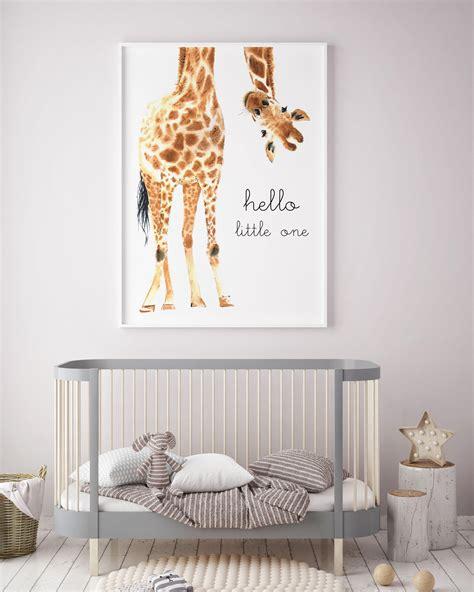 Giraffe Decorations - giraffe animal nursery decor nursery wall printable