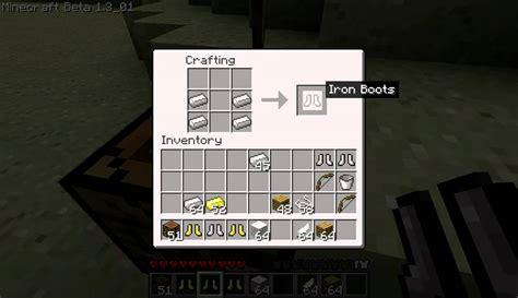 minecraft quick tutorial  schuhe boots bauencraften