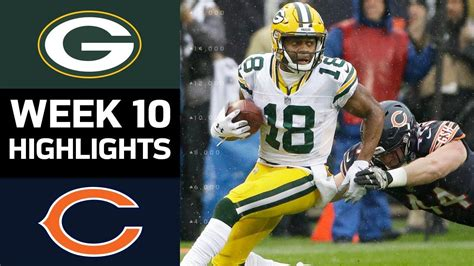 Packers Vs Bears  Nfl Week 10 Game Highlights Youtube