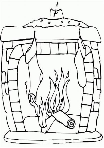 Fireplace Coloring