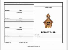 Report Card Template 33+ Free Word, Excel, Documents