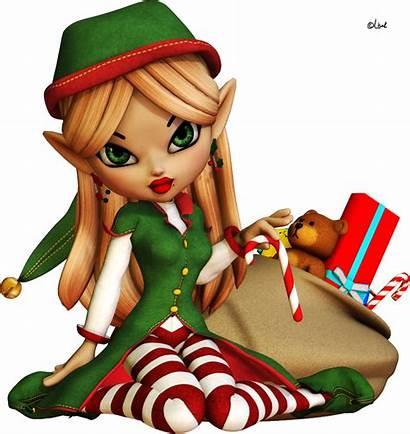 Elf Christmas Transparent Elves Background Noel Clipart
