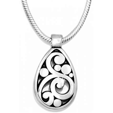 brighton silver contempo teardrop necklace nwt ebay