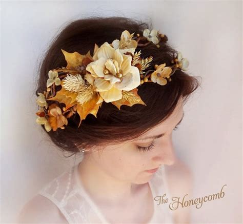 Items Similar To Fall Hair Accessories Flower Crown