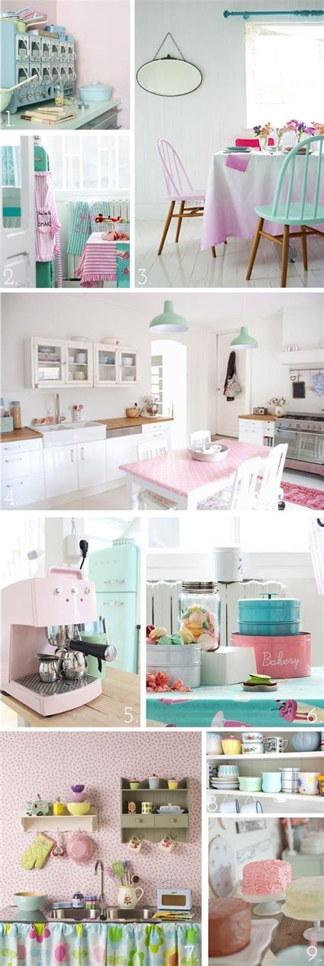 Pink Kitchen Inspiration by The Pink Doormat Pretty Pastel Kitchen Inspiration