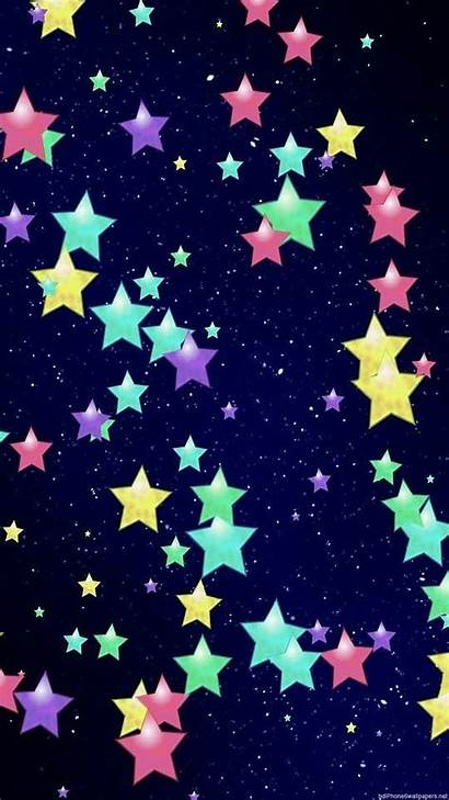 Backgrounds Stars Star Colorful Iphone Wallpapers Rainbow
