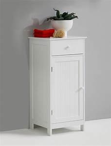 Meuble Bas Porte : meuble bas 1 porte et 1 tiroir stockholm blanc ~ Edinachiropracticcenter.com Idées de Décoration