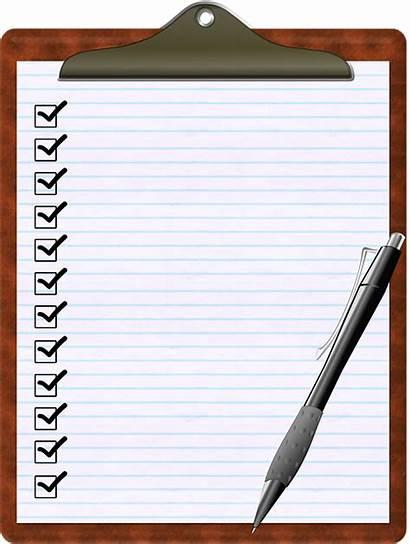 Check Paper Box Clipboard Checklist Pen
