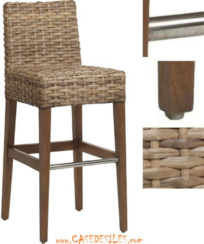 chaise de bar en rotin chaise de bar rotin tabouret bar jules cesar 686 j pas cher