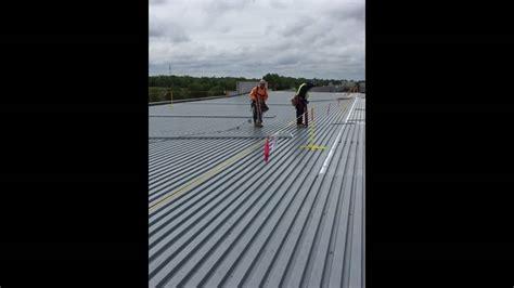 piedmont steel company installing metal roof decking youtube