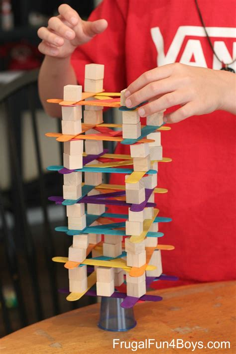 4 Engineering Challenges For Kids (cups, Craft Sticks, And