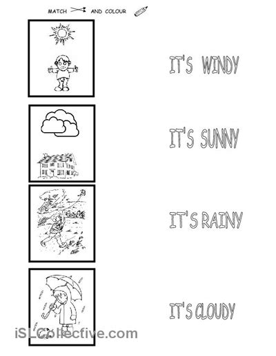 weather worksheet level one toddler and preschoolers