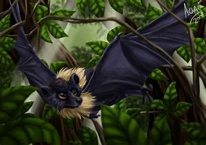 Mariana fruit bat by LobaFeroz on DeviantArt