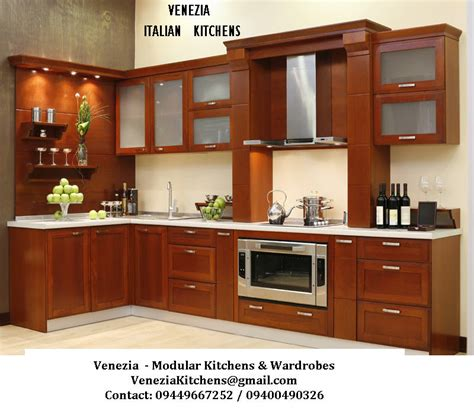 venezia stainless steel finish modular kitchens kerala