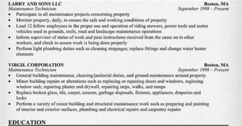 apartment maintenance supervisor resume http topresume