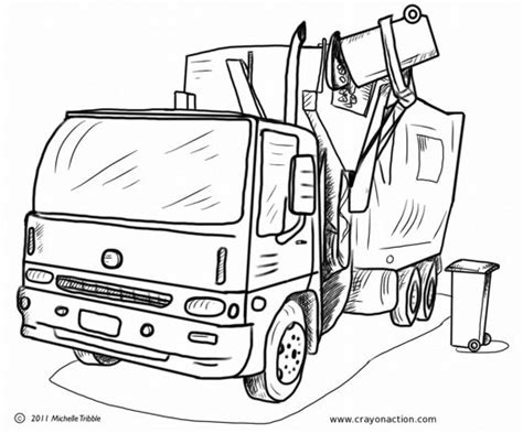 garbage truck coloring page image for the garbage truck coloring page coloring