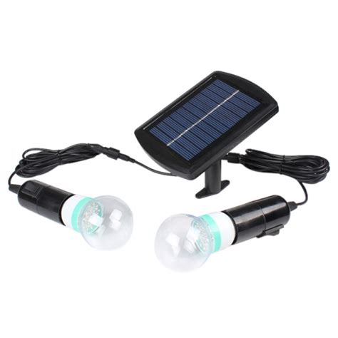 buy solar power led lighting system 2 led bulbs garden