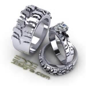 biker wedding rings motocross wedding ring one day