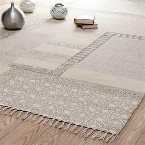 Teppich 230 X 230 : tapis poils courts en coton beige 160 x 230 cm menara maisons du monde ~ Indierocktalk.com Haus und Dekorationen