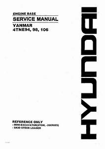 Hyundai 4tne94  98  106 Yanmar Engine Base Service Manual