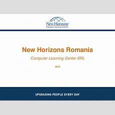 New Horizons Romania  Prezentare 2016