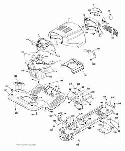 Mcculloch M17538h  96041023200  Ride On Mower Chassis