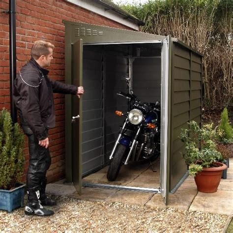 cycle storage sheds best 25 motorcycle garage ideas on
