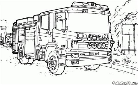 camion de pompier  transport coloriages  imprimer