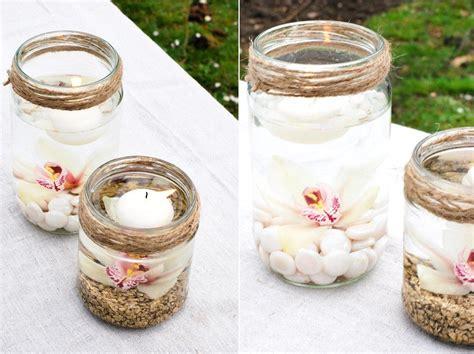 diy des photophores orchidee idee decoration mariage