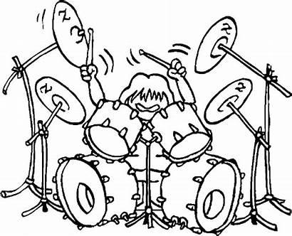 Rock Coloring Roll Dibujos Band Pintar Drummer