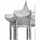 Pavilion Clipart Chinese Cliparts Clip Library sketch template