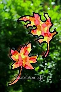 Herbstbasteln Für Fenster : herbstbasteln mit kindern herbstlaub fensterbild ~ Orissabook.com Haus und Dekorationen