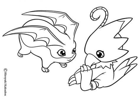 Biyomon And Tokomon Coloring Pages
