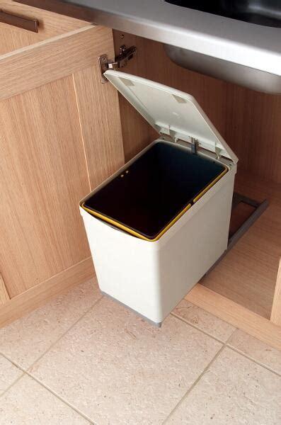kitchen bin storage pull out waste bin 16 litres lark larks 2316