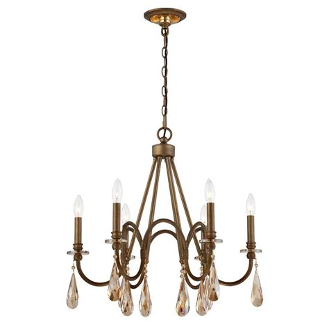 Oversized Chandeliers by Home Decorators Collection 6 Light Bronze Chandelier With