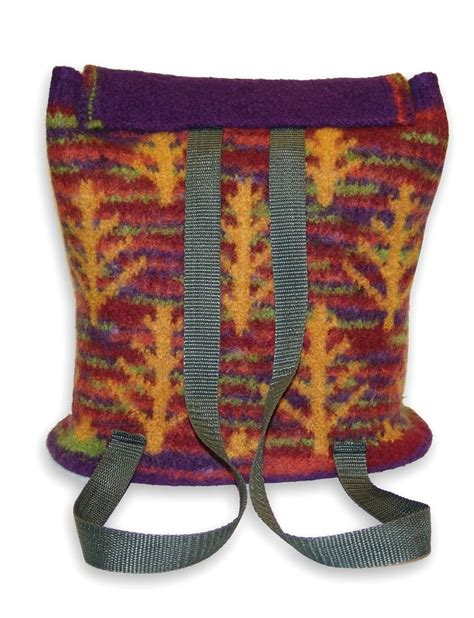 Entrelac Felted Purse Knitting Pattern