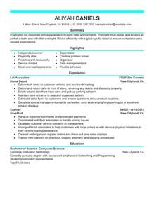 unforgettable part time lot associates resume exles to