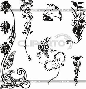 Jugendstil Florale Ornamente : einfache florale ornamente im jugendstil stock ~ Orissabook.com Haus und Dekorationen
