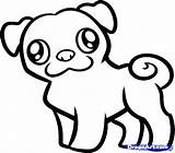 Pug Pages Coloring Cute Colouring Printable Print Getcolorings sketch template